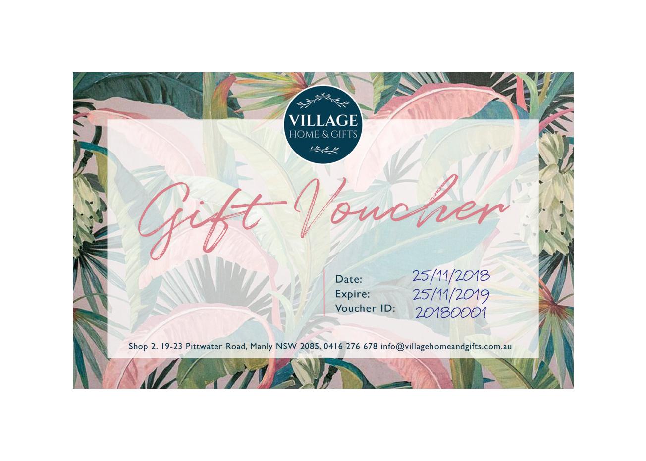 VILLAGE Home & Gifts - Gift VOUCHER
