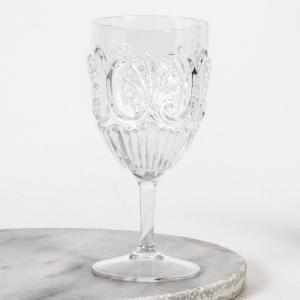 030 flemington clear acrylic wine glass